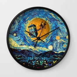 Doctor Who 4th at starrynight Wall Clock