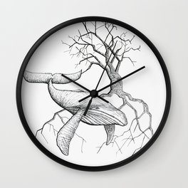 The Land Meets the Sea Wall Clock
