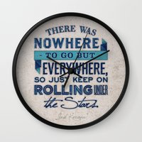 kerouac Wall Clocks featuring Kerouac  by Matt Smiroldo