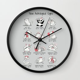 New Astrological Signs Wall Clock