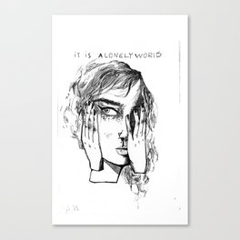 IT IS A LONELY WORLD Canvas Print