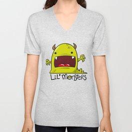 Lil' Monster Green Unisex V-Neck