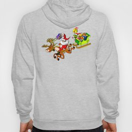 Santa's Gift Delivery with a Slingshot! Hoody