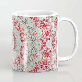 Flight of the Red Maple Tree -- Dreamy Mandala, Medallion, Kaleidoscope in Vintage Tones Coffee Mug