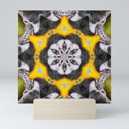 Our Feathered Friends Series | Parrot 4 geometric art Mini Art Print