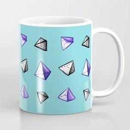 Blue Geometric Watercolor Pyramid Pattern Coffee Mug