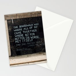 Jersey Shore Boardwalk / Junot Diaz Quote Stationery Cards