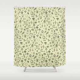 Doodles Pattern Shower Curtain