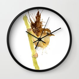 Mrs Wren Wall Clock