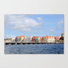 Colorful Houses of Willemstad, Curacao Canvas Print