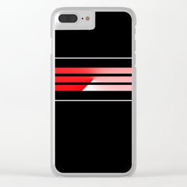 Team Colors....Red Clear iPhone Case