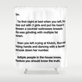 Letter to Sammi Shower Curtain