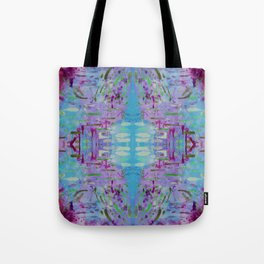 Purple Watercolor Tapestry Tote Bag