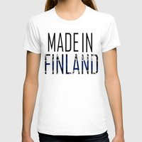 finland T-shirts featuring Made In Finland by VirgoSpice