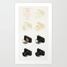 isometric tutorial Art Print