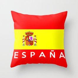 spain country flag espana spanish name text Throw Pillow