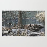 ducks Area & Throw Rugs featuring Ducks by Italo Martins