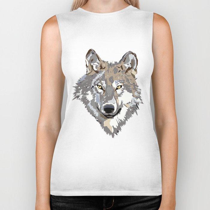 Wolf Face Biker Tank