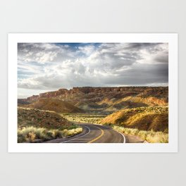 Golden Time in Arches Art Print