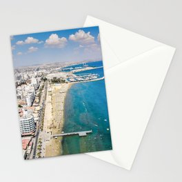 Larnaca Finikoudes Coast Stationery Cards