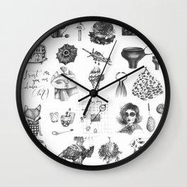 my own pinterest board Wall Clock