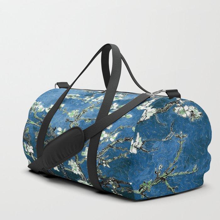 Van Gogh Almond Blossoms : Ocean Blue Duffle Bag