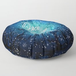 Once Upon A Time ~ Winter Snow Fairytale Forest Floor Pillow