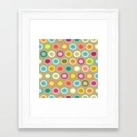 buffy Framed Art Prints featuring polka buffy by Sharon Turner
