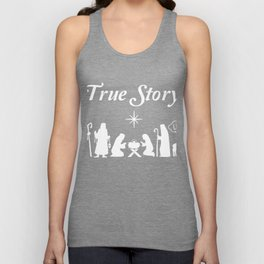 Jesus Birth True Story Is Atheism Christmas T-Shirt Unisex Tank Top