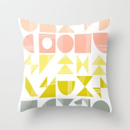 Organic Abstract Shapes in Soft Pastel Colors Throw Pillow