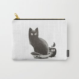 Cat in the Apple Bowl Carry-All Pouch