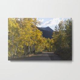 Mountain Road Less Traveled Metal Print