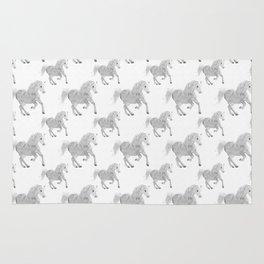 White Horse Pattern Rug