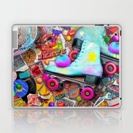 Super Retro Roller Skate Night Laptop & iPad Skin