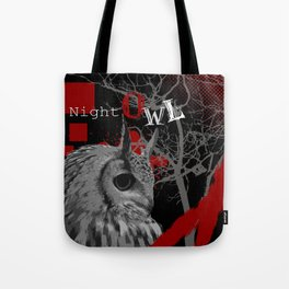 Trash Polka Night Owl & Tree Branches Tote Bag