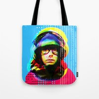 beastie boys Tote Bags featuring Gioconda Music Project · Beastie Boys · Adam Yauch by Marko Köppe