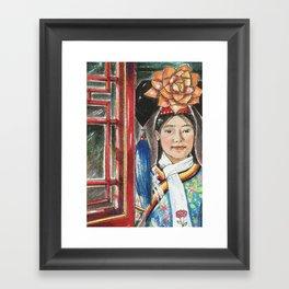 beijing hostess Framed Art Print