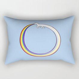 Ouroboros Unicorn Rainbow Vomit Rectangular Pillow