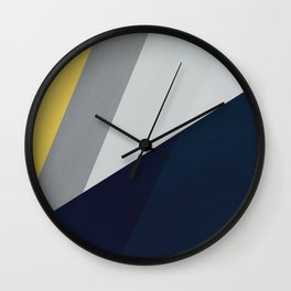 Paint blocks mid century modern textured art stripes Wall Clock