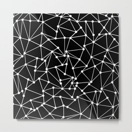 Ab Out Black Spots Metal Print