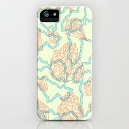 diamonds + chains iPhone Case