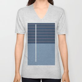 Abstract blue series - 12 Unisex V-Neck