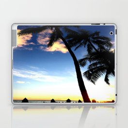 Hawaii Sunset Palm Tree Sea Beach Sky Blue Laptop & iPad Skin