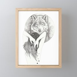 WolfMoon Framed Mini Art Print