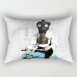Vespa Man Rectangular Pillow