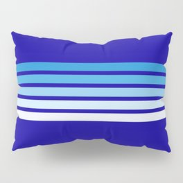 Retro Stripes on Blue Pillow Sham