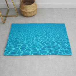 Swimming pool water sun reflection. Ripple Water. Rug