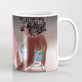 Hip Hop in the Summer - Lana Inspired Digital Trio of Woman Drawing Coffee Mug