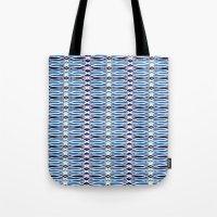 batik Tote Bags featuring Blue Batik by Elena Indolfi