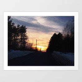 Dead End Sunset Art Print